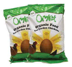 Organic Omlet Chicken Feed 10kg Twin Pack
