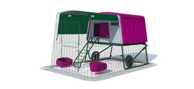 Eglu Cube Mk2 with 2m Run and Wheels Package - Purple