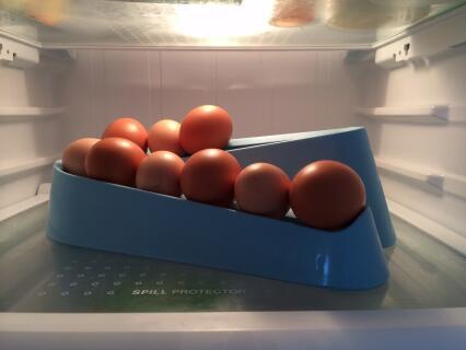 Egg ramp in the fridge