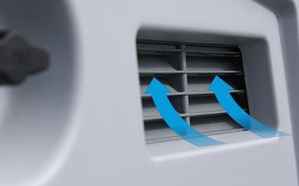 Air vents on an Eglu Cube chicken house.