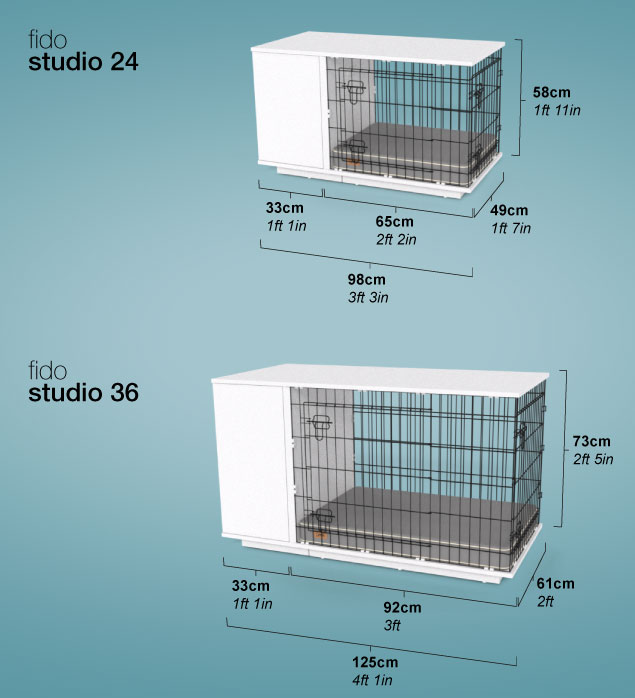 Diagram showing dimensions of Fido Studio.