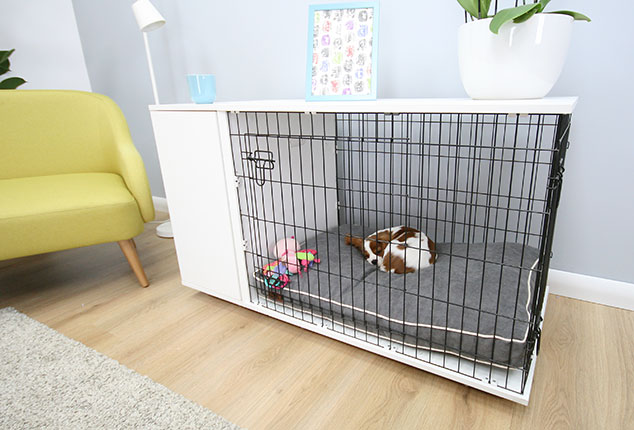 You can easily secure your dog when you have visitors who aren't used to dogs